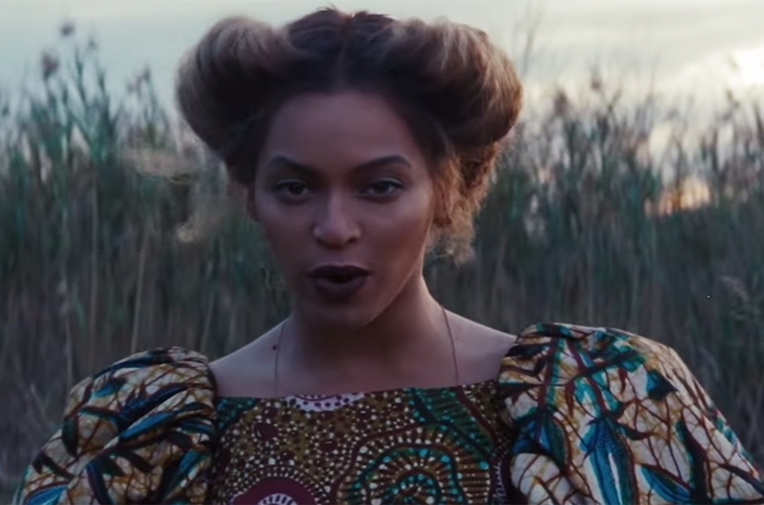 "Beyonce in the video for ""All Night."""