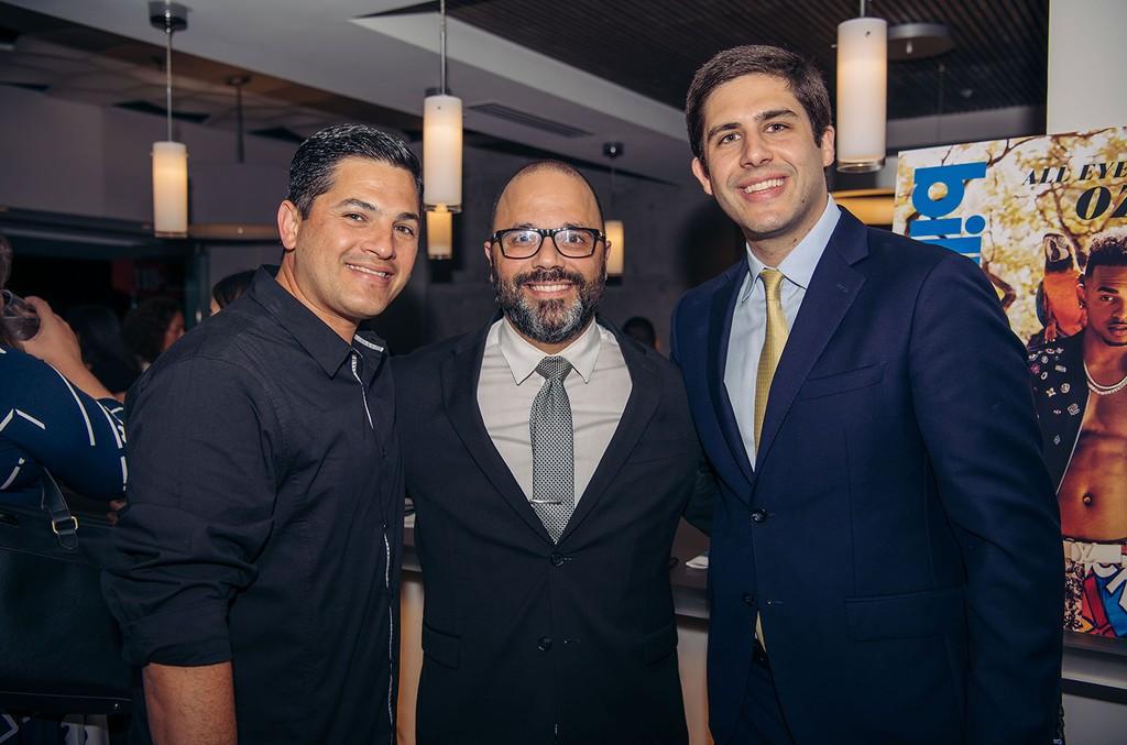 Eduardo Canjina (Manager Coliseo De Puerto Rico), Manuel Laboy (Secretary of Economic Development), Julio Cabral