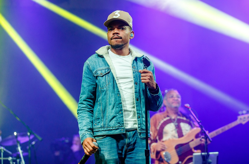 Chance the Rapper performs in the Superjam with Preservation Hall Jazz Band during the Bonnaroo Music & Arts Festival on June 10, 2017 in Manchester, Tenn.