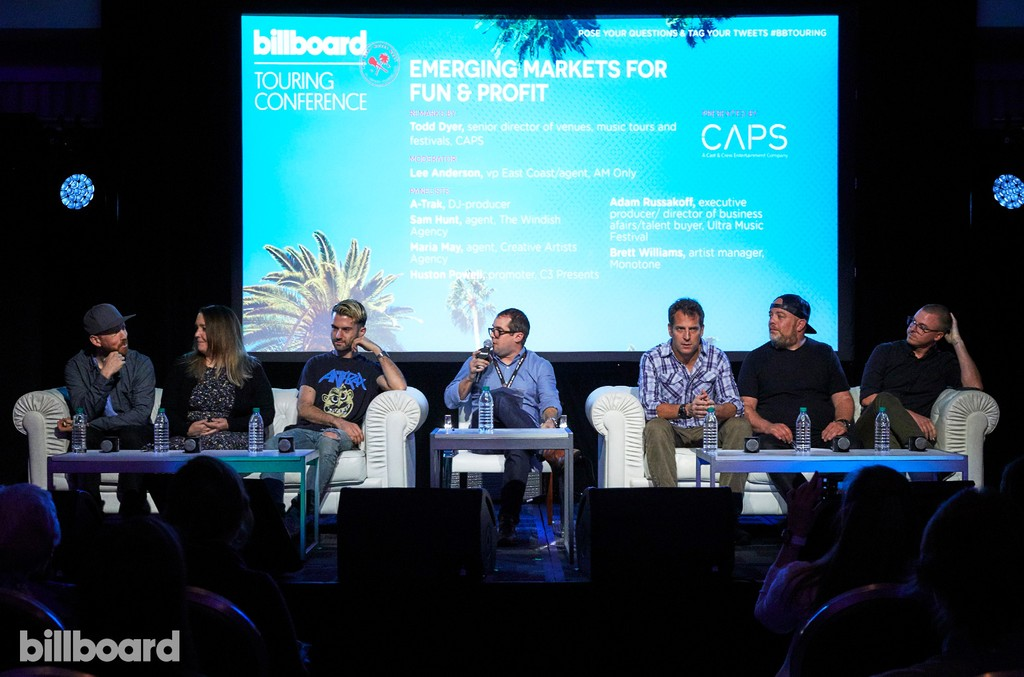 Sam Hunt (Windish Agency), Maria May (Creative Artist Agency), A-Trak, Lee Anderson (AM Only), Huston Powell (C3 presents), Adam Russakoff (Ultra Music Festival) and  Brett Williams (Monotone)