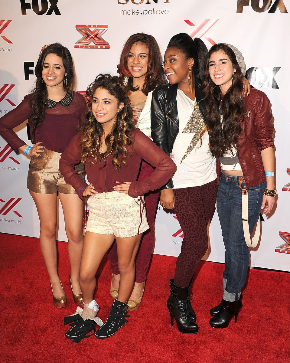 "Fifth Harmony arrives at the ""The X Factor"" Viewing Party Sponsored By Sony X Headphones at Mixology101 & Planet Dailies on Dec. 6, 2012 in Los Angeles."