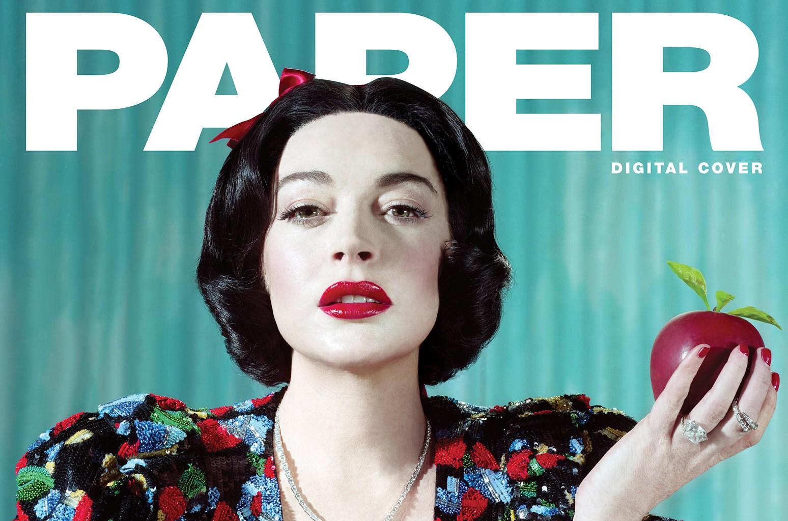 Lindsay Lohan Paper Magazine.