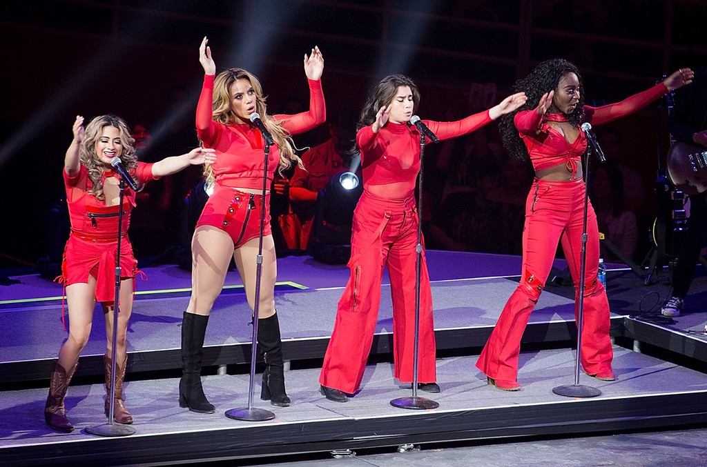 Ally Brooke, Dinah Jane, Lauren Jauregui, and Normani Kordei of Fifth Harmony perform in concert as part of the San Antonio Stock Show & Rodeo at the AT&T Center on Feb. 20, 2017 in San Antonio, Texas.
