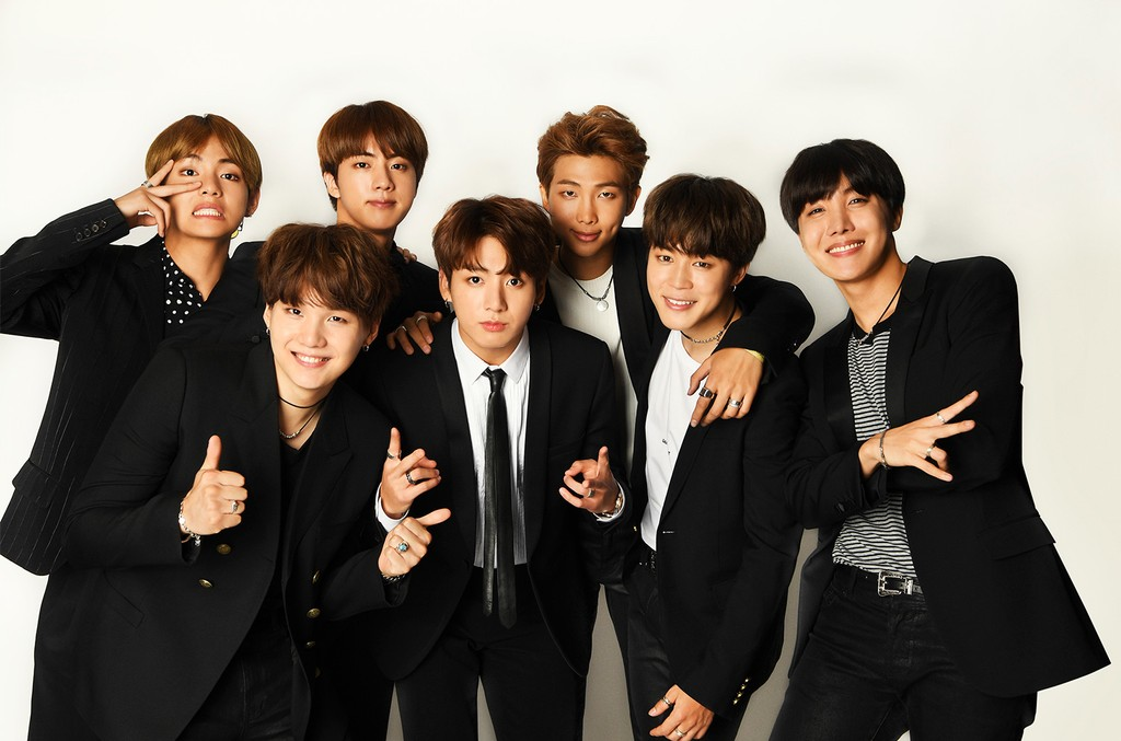 BTS poses for a portrait during the 2017 Billboard Music Awards at T-Mobile Arena on May 21, 2017 in Las Vegas.