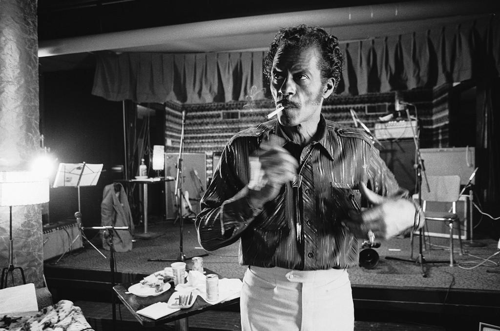 Chuck Berry photographed circa 1975.