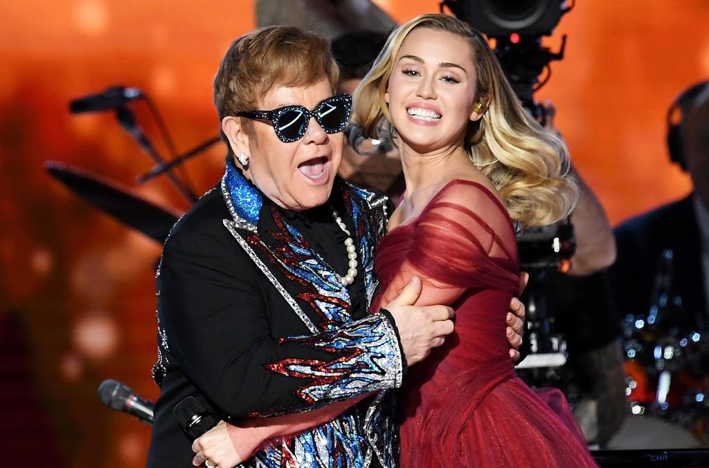 Sir Elton John and Miley Cyrus
