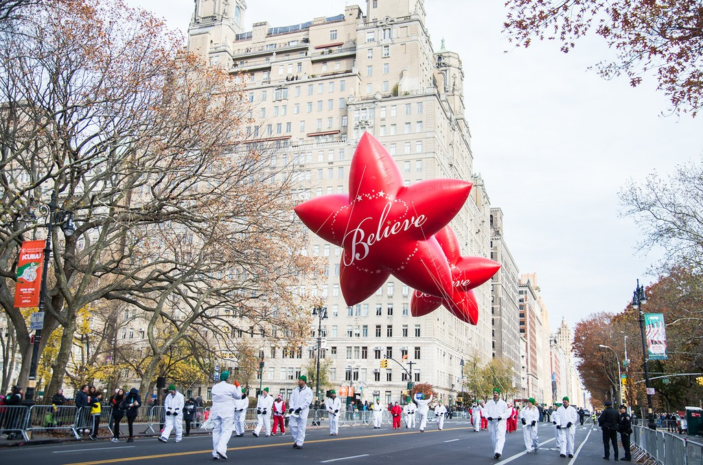 Macy's balloon atmosphere at the 90th Annual Macy's Thanksgiving Day Parade on Nov. 24, 2016 in New York City.