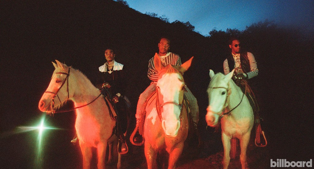 Migos photographed Feb.13 at Sunset Ranch Hollywood in Los Angeles.
