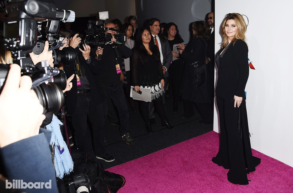 Shania Twain attends the Billboard Women in Music 2016 event on Dec. 9, 2016 in New York City.