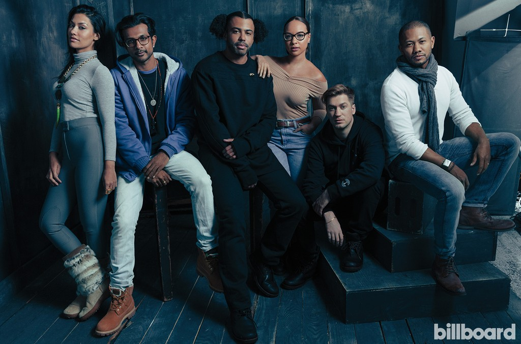 From left: Janina Gavankar, Utkarsh Ambudkar, Daveed Diggs, Jasmine Cephas Jones, Rafael Casal and Justin Chu Cary of 'Blindspotting'