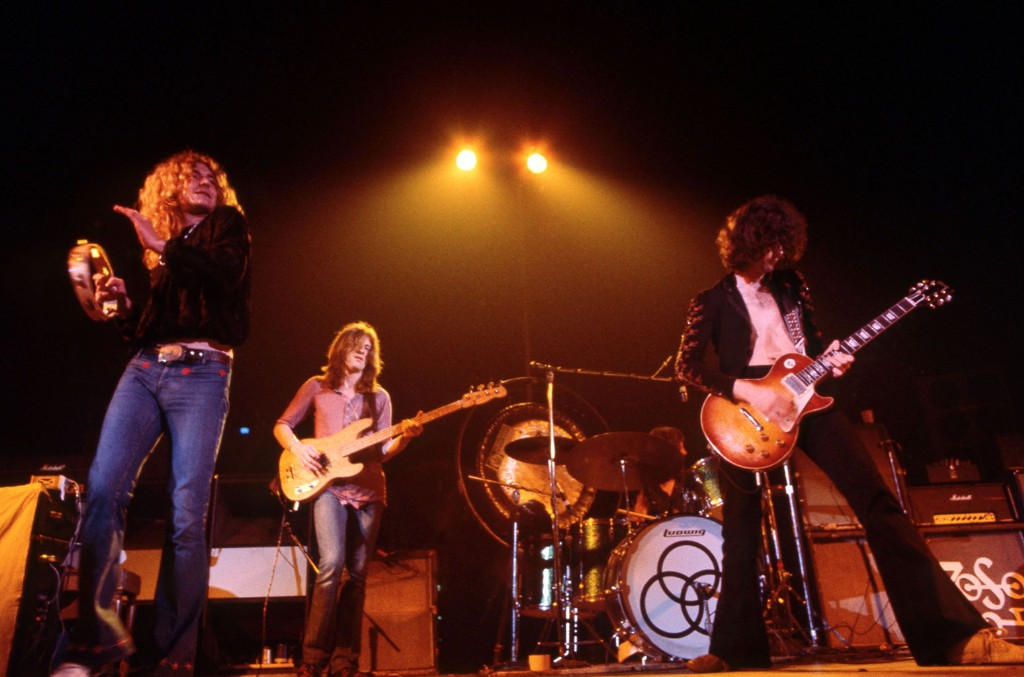Led Zeppelin onstage, Los Angeles, 1971