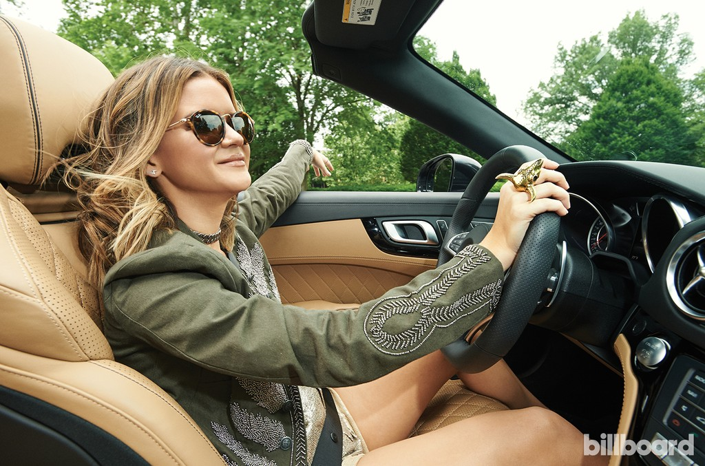Maren Morris photographed in a Mercedes SL65 AMG on May 25, 2016 at Percy Warner Park in Nashville.