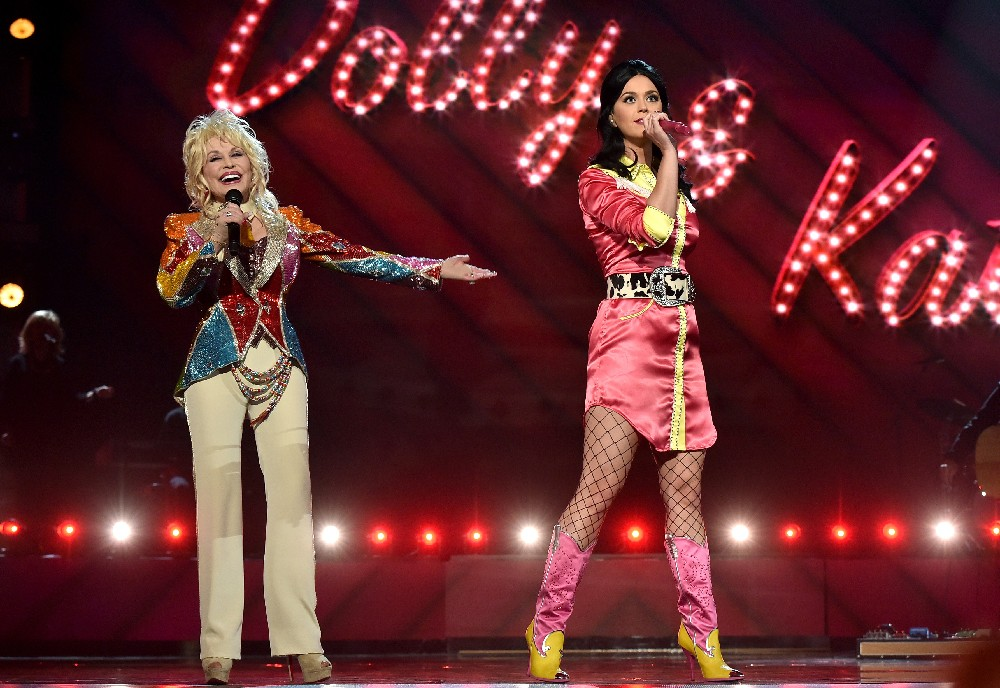 Dolly Parton Katy Perry Academy of Country Music Awards 2016