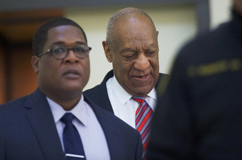Bill Cosby arrives at the Montgomery County Courthouse for his sexual assault trial on June 7, 2017 in Norristown, Pa.