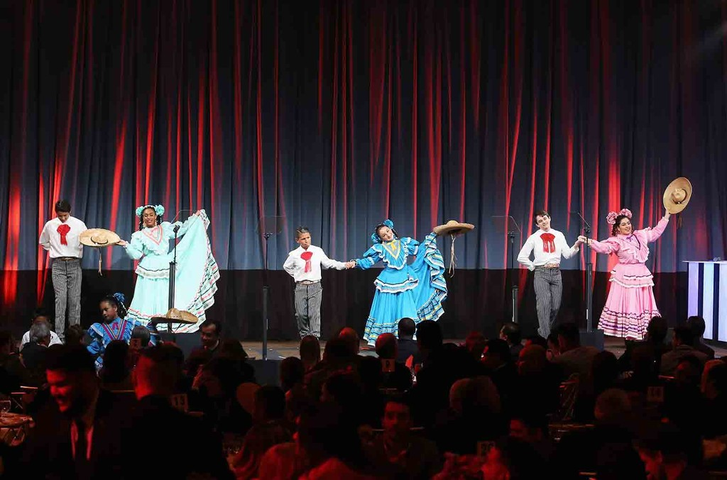 Ballet Folklorico Mexico Azteca - Burbank perform onstage during the 24th Annual BMI Latin Awards at the Beverly Wilshire Four Seasons Hotel on March 21, 2017 in Beverly Hills, Calif.