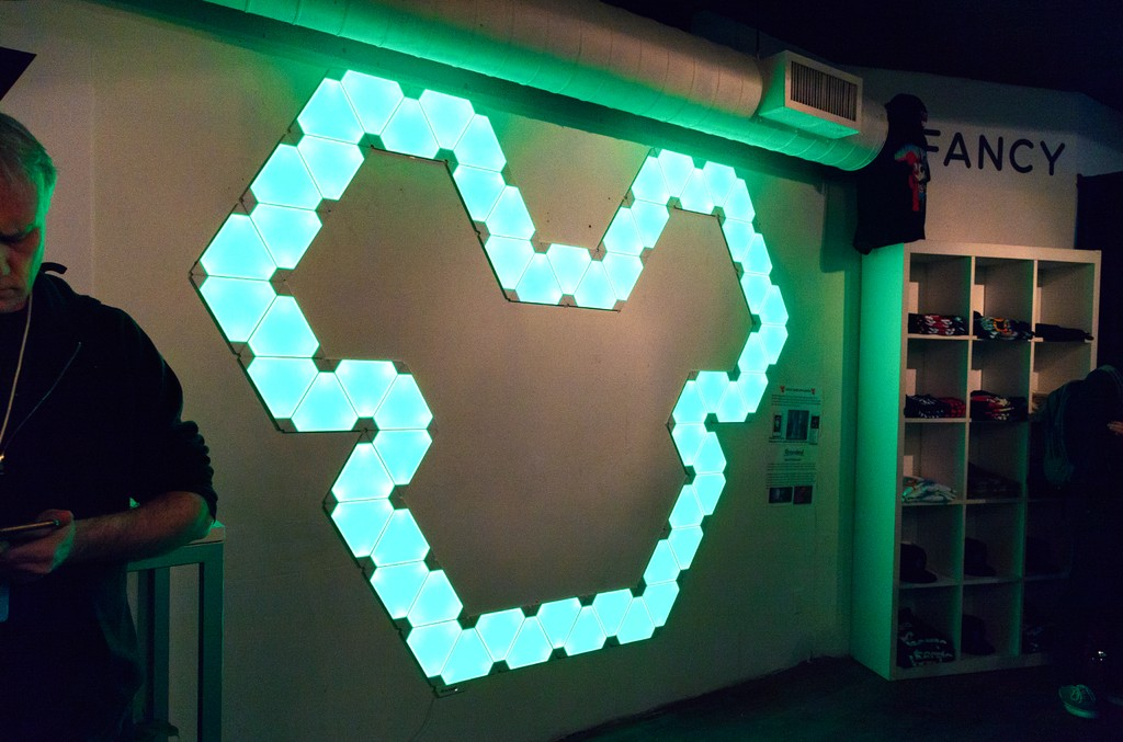 Neon Deadmau5 sign at the 'Lost of Stuff in a Store' Deadmau5 pop-up shop on March 31, 2017 in New York City.