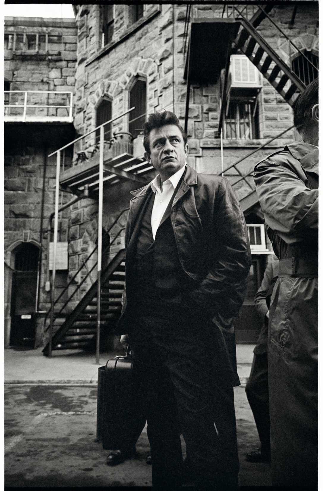 Johnny Cash off the bus at Folsom State Prison, Folsom, California, 1968