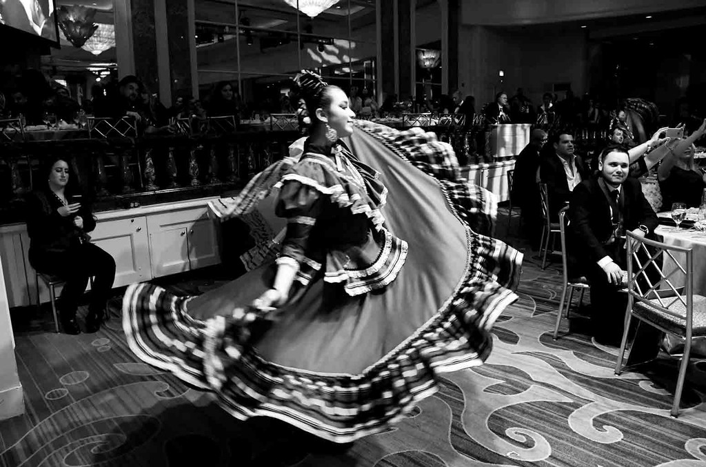Members of Ballet Folklorico Mexico Azteca - Burbank perform during the 24th Annual BMI Latin Awards at the Beverly Wilshire Four Seasons Hotel on March 21, 2017 in Beverly Hills, Calif.