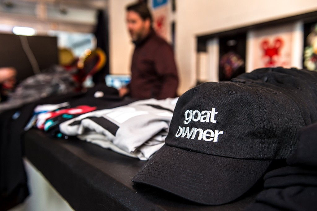Merchandise at the 'Lost of Stuff in a Store' Deadmau5 pop-up shop on March 31, 2017 in New York City.