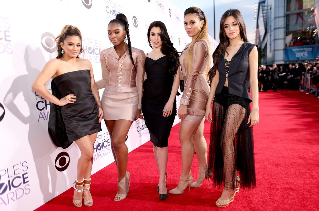 Ally Brooke Hernandez, Normani Hamilton, Lauren Jauregui, Dinah Jane Hansen and Camila Cabello of Fifth Harmony attend The 41st Annual People's Choice Awards at Nokia Theatre LA Live on Jan. 7, 2015 in Los Angeles.