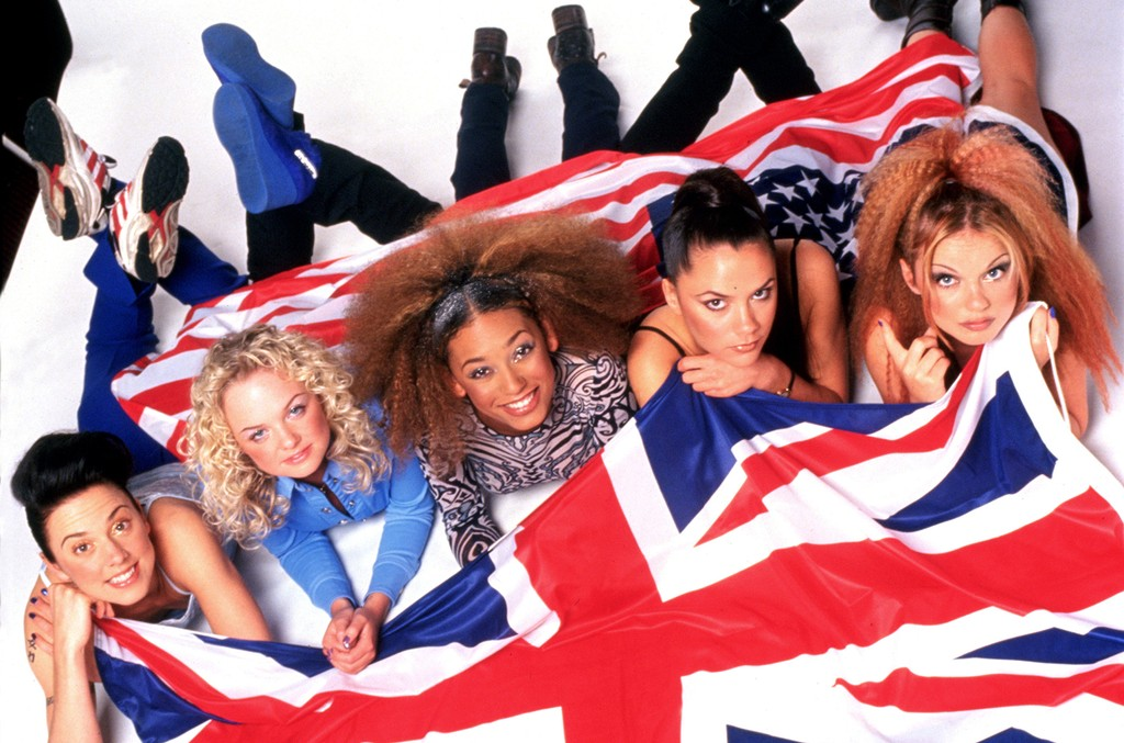 The Spice Girls photographed in 1997.