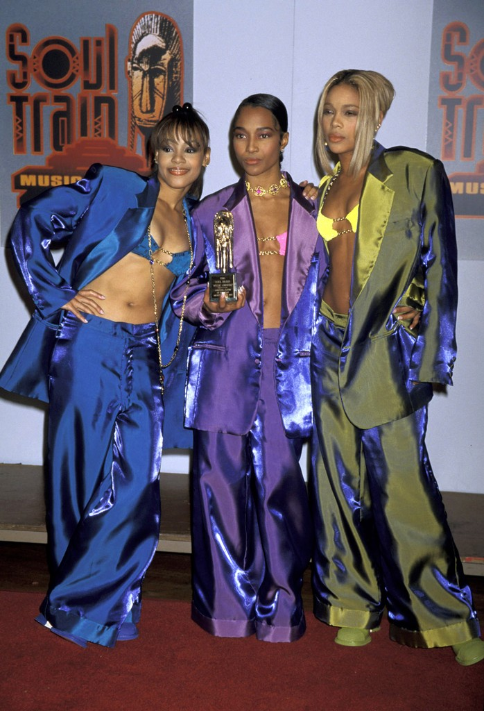 """Lisa """"Left Eye"""" Lopes, Chilli and T-Boz of TLC during 10th Annual Soul Train Music Awards at Shrine Auditorium in Los Angeles."""