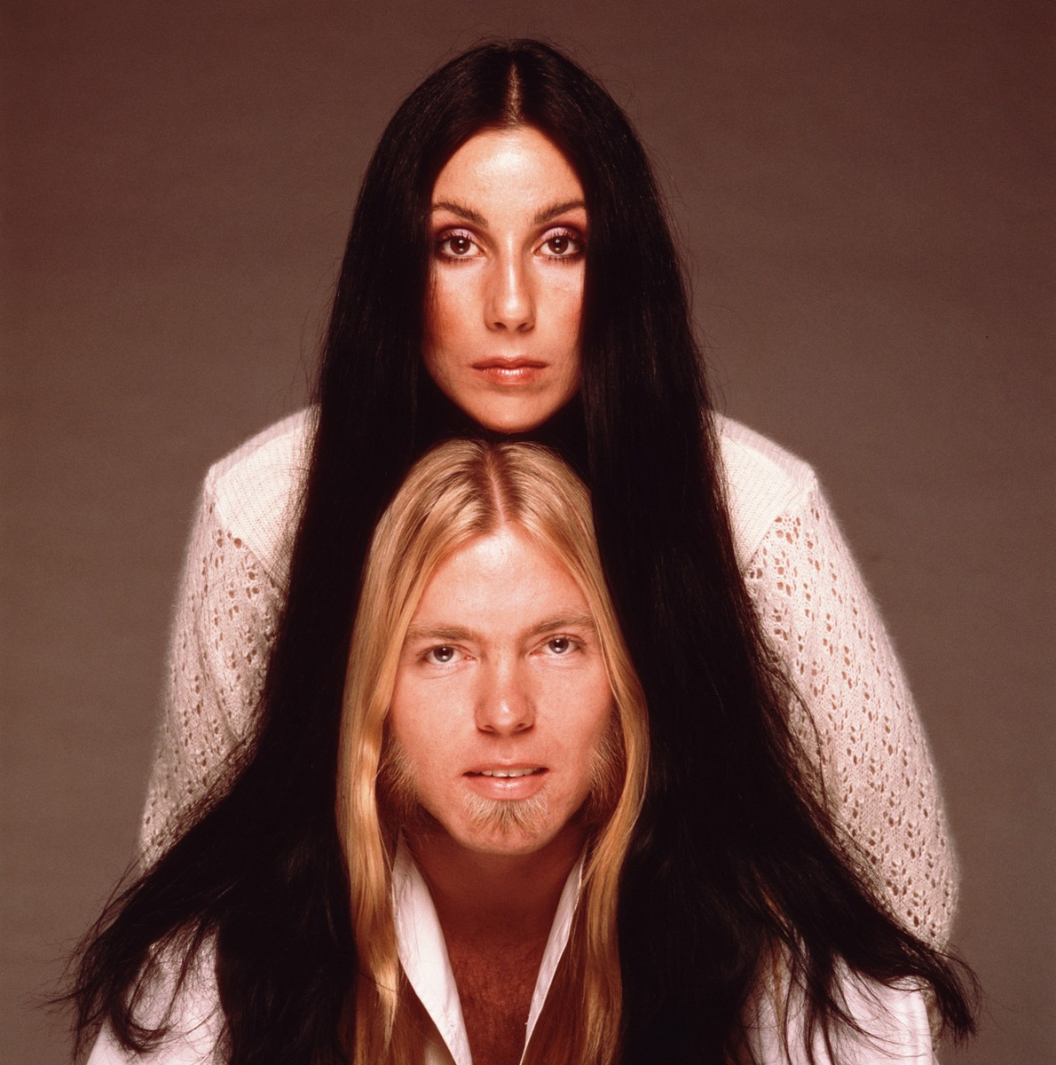 Cher and Gregg Allman photographed in the 1970s.