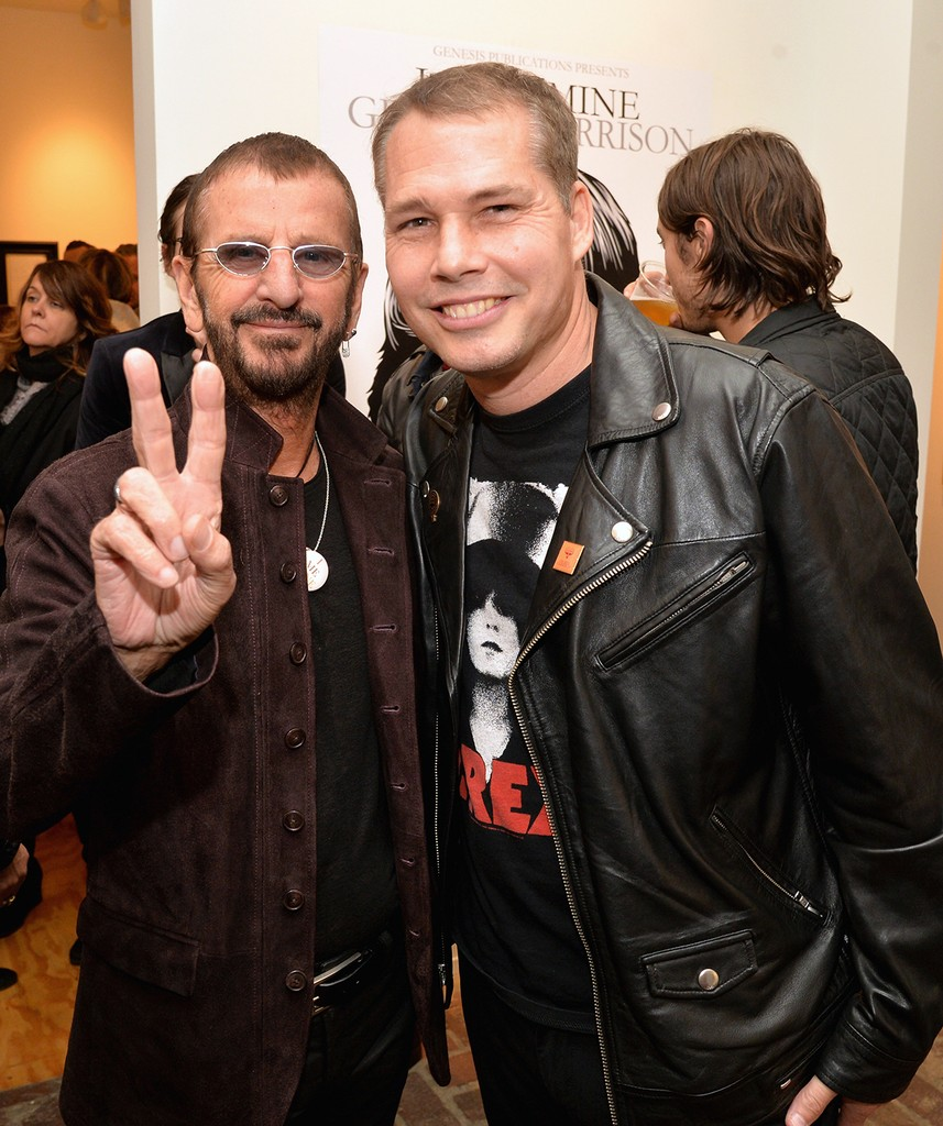 """Ringo Starr and Shepard Fairey attend the """"I ME MINE"""" George Harrison book launch at Subliminal Projects Gallery on Feb. 25, 2017 in Los Angeles."""