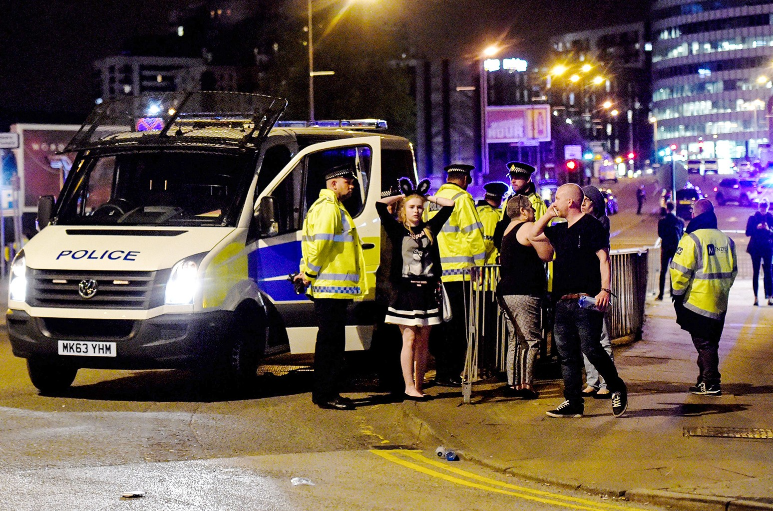 The scene outside the Manchester Arena on May 22, 2017.