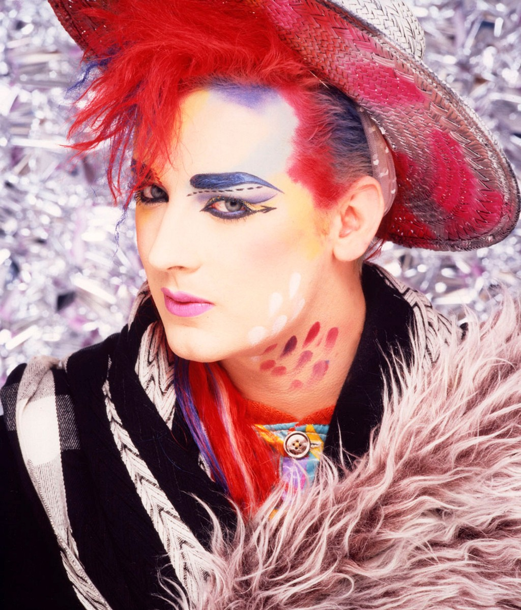 Boy George from Culture Club posed in London in 1984.
