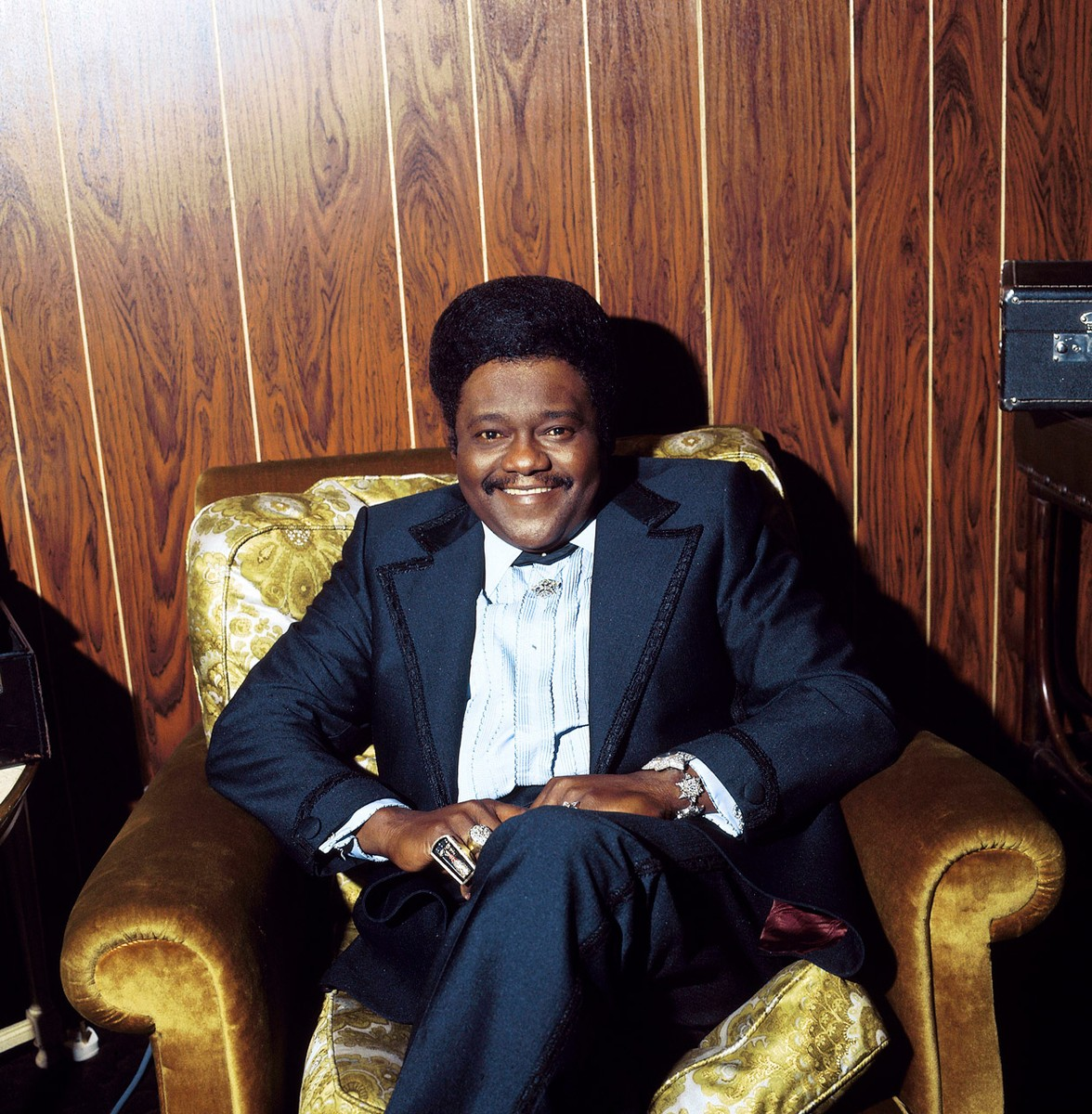 Fats Domino photographed in the 1970s.