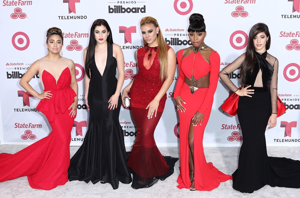 Fifth Harmony arrives at 2015 Billboard Latin Music Awards presented by State Farm on Telemundo at Bank United Center on April 30, 2015 in Miami.