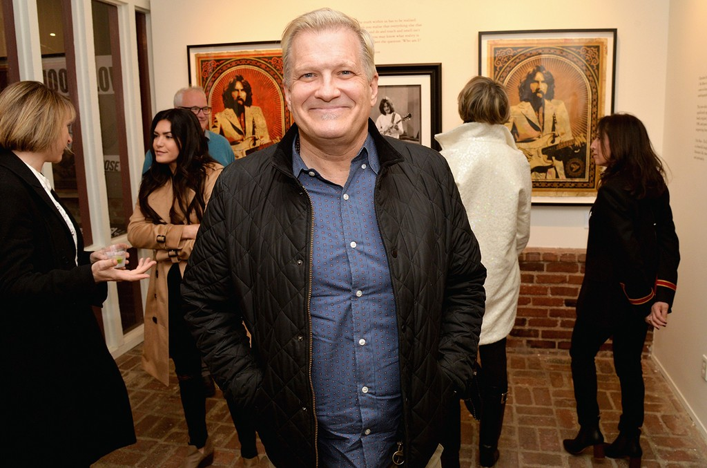 """Drew Carey attends the """"I ME MINE"""" George Harrison book launch at Subliminal Projects Gallery on Feb. 25, 2017 in Los Angeles."""