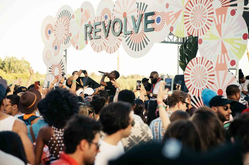 at the REVOLVE Desert House during Coachella on April 15, 2017 in Palm Springs, Calif.