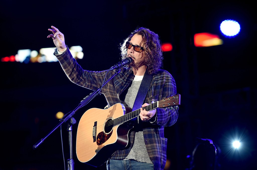 Chris Cornell performs at the Dallas Premiere of the Paramount Pictures film ?13 Hours: The Secret Soldiers of Benghazi? at the AT&T Dallas Cowboys Stadium on Jan. 12, 2016 in Arlington, Texas.
