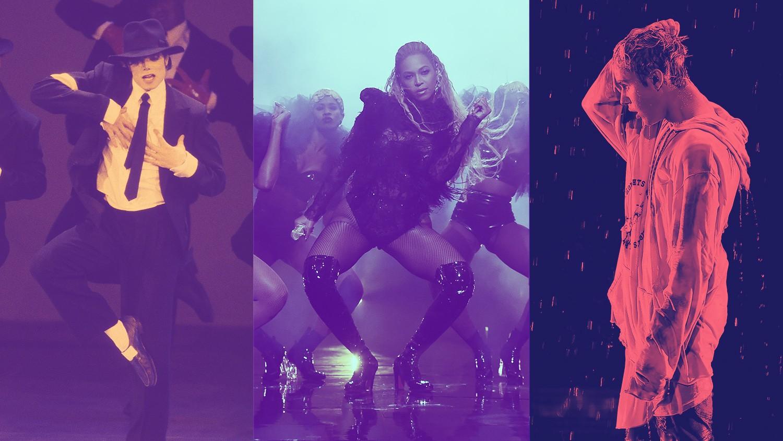 Michael Jackson, Beyoncé & Justin Bieber