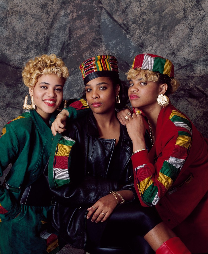 Salt-n-Pepa photographed in London in 1989.