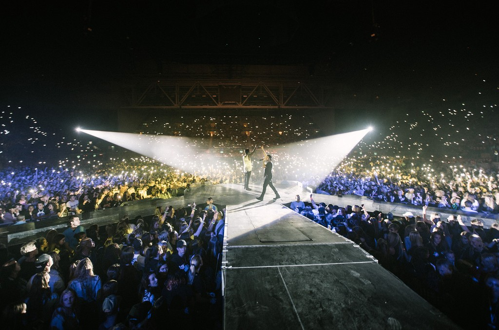When we perform our new single 'HEAT', we have everyone light up the arena - which is always an amazing sight.