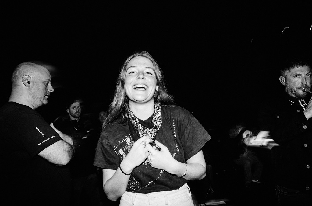 Maggie Rogers backstage during iHeartRadio ALTer Ego 2018 at The Forum on Jan. 19, 2018 in Inglewood, Calif.