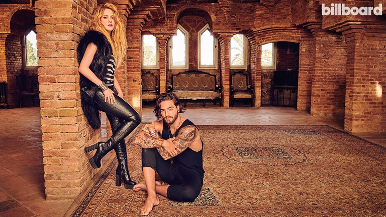 <p>Shakira and Maluma photographed April 2 at Torre Bellesguard Antoni Gaudi in Barcelona, Spain. Shakira was styled by Marjan Malakpour, and wears an RtA T-shirt and pants, BeauSouci vest, Saint Laurent boots, Elena Estaun cuff and Lillian Shalom ring. Maluma was styled by Julian Rios, and wears a Dolce &amp&#x3B; Gabbana shirt, pants and necklace, and a Maluma Collection tag necklace and bracelets.</p>
