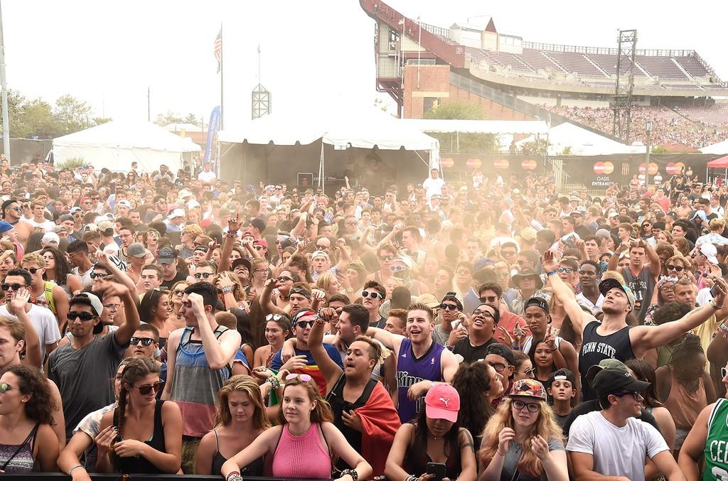 Festival goers attend 2016 Billboard Hot 100 Festival
