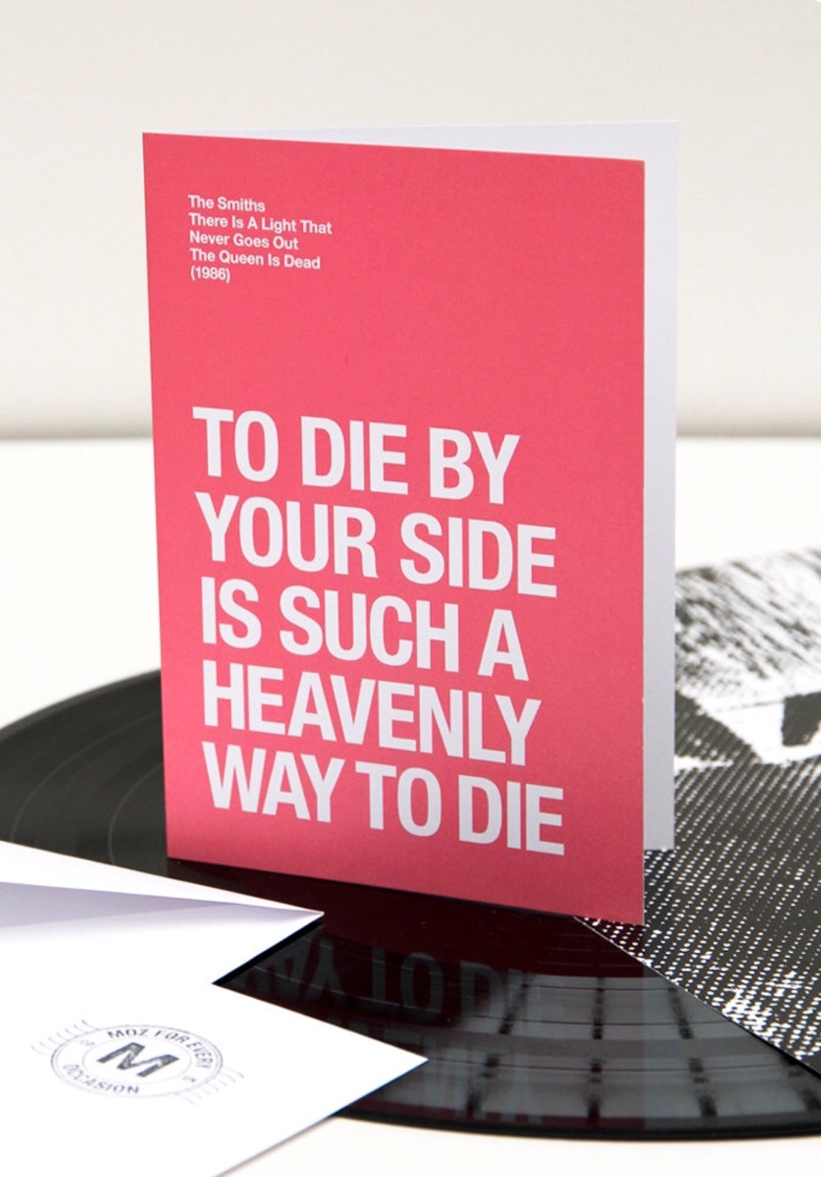 The Smiths — To die by your side is such a heavenly way to die