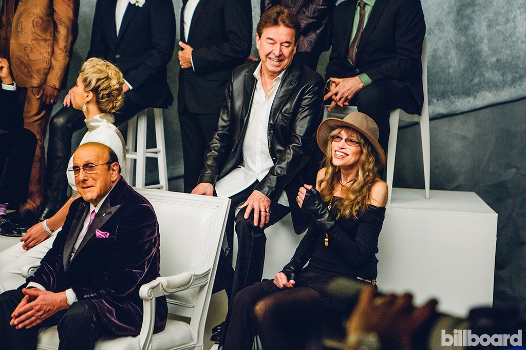 Clive Davis, Walter Parazaider of Chicago and Carly Simon