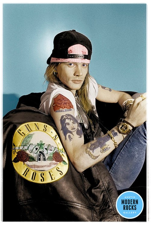 Axl Rose of Guns N' Roses photographed in 1988.