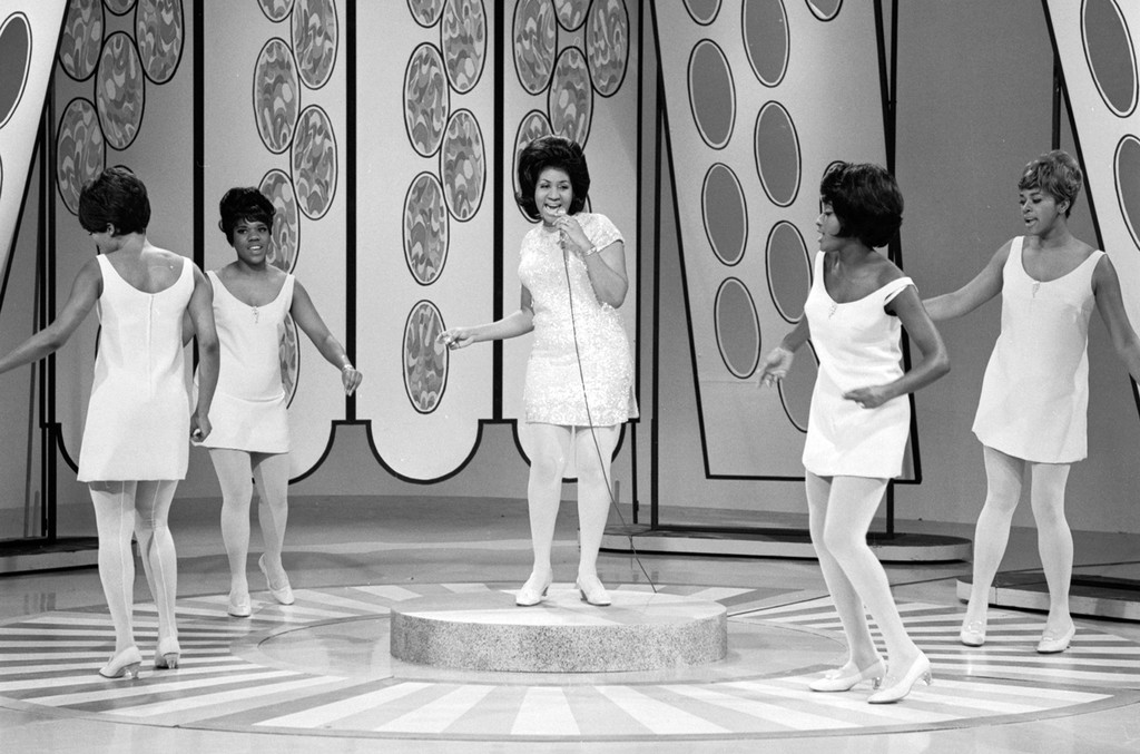 "Aretha Franklin on ""The Jonathan Winters Show"" on Jan. 5, 1968."