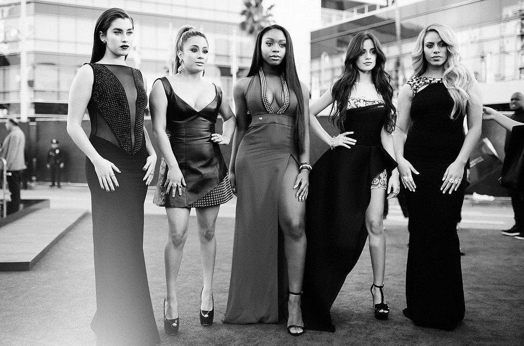 Lauren Jauregui, Ally Brooke, Normani Hamilton, Camila Cabello and Dinah-Jane Hansen of music group Fifth Harmony attend the 2015 American Music Awards at Microsoft Theater on Nov. 22, 2015 in Los Angeles.