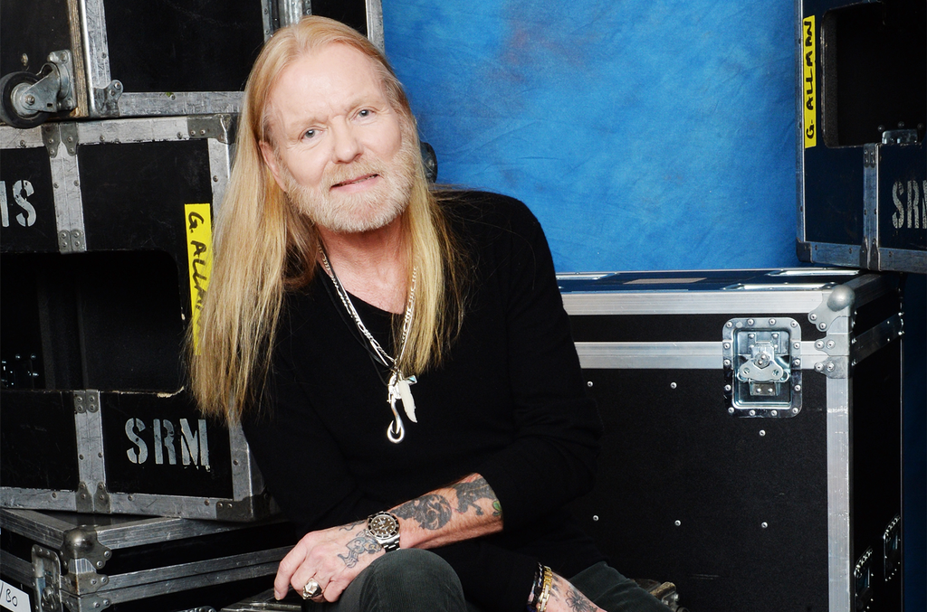 Gregg Allman poses for a portrait at All My Friends: Celebrating the Songs & Voice of Gregg Allman at The Fox Theatre on Jan. 10, 2014 in Atlanta.