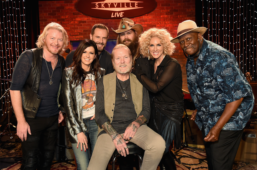 Chris Stapleton, Taj Mahal, Little Big Town and Gregg Allman during the Skyville Live & USA TODAY Presents A Salute to Gregg Allman event on Dec. 11, 2015 in Nashville.