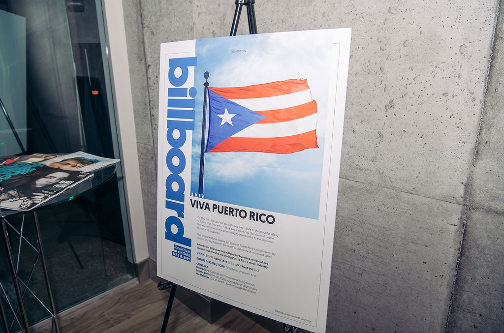 Billboard's Meet and Greet Celebrating Puerto Rico's Music Industry and the launch of the Puerto Rico spotlight feature on Billboard.