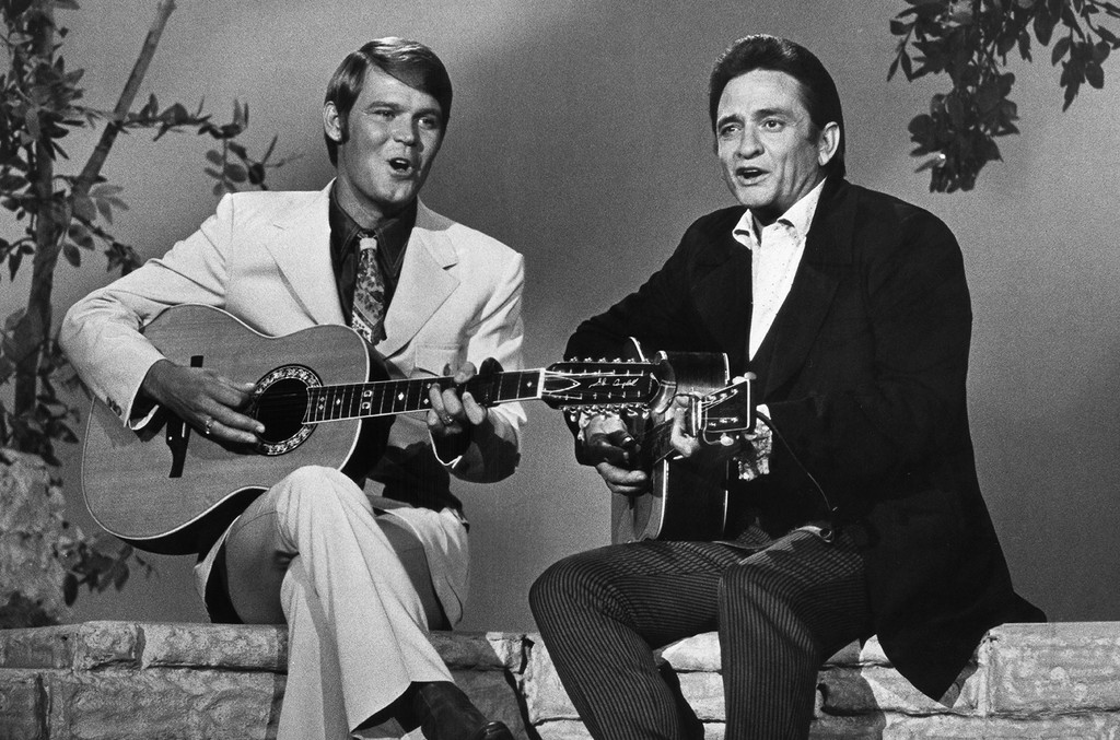 Glen Campbell and Johnny Cash
